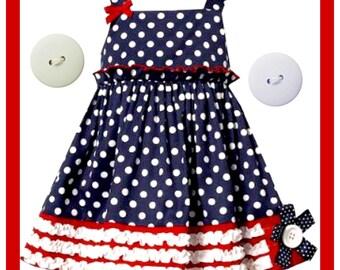 Girl Patriotic  Dress.