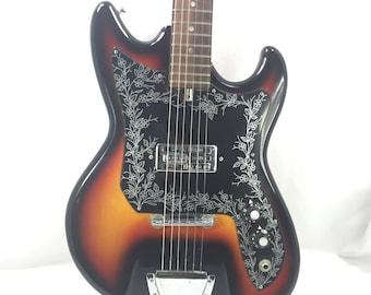 Vintage Electric Guitar 1960's Teisco Del Rey