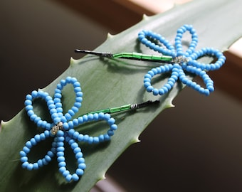 Blue Flower Bobby Pins
