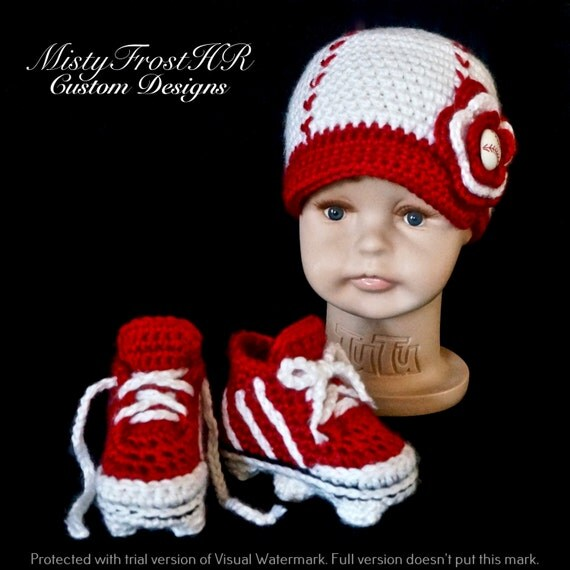 Crochet Pattern For Newborn Baseball Cap Amp Cleats