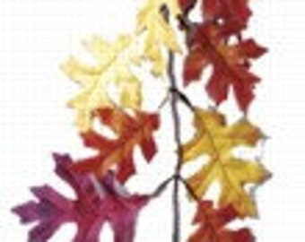 9 Feet Long Autumn Fall Oak Leaf Leaves Garland - Wedding, Thanksgiving, Decor