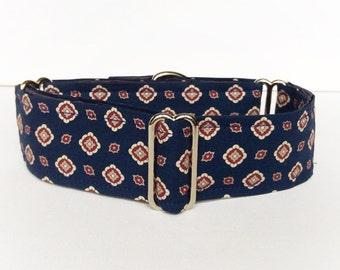 Yes sir martingale collar (dog collar, greyhound martingale, handkerchief, tie, necktie, prints, masculine, distinction chic, fabric cotton)
