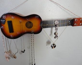 Upcycled GUITAR JEWELRY ORGANIZER - Music Lovers Jewelry Box - Repurposed