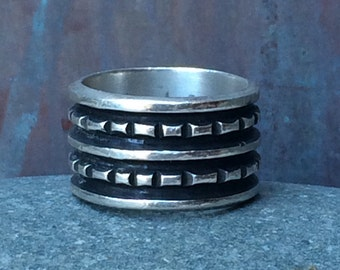 Sterling wide band ring size 6.5