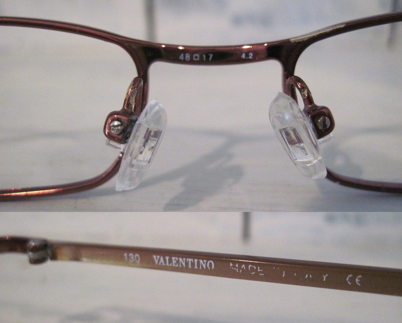 Vintage Valentino Made in Italy metallic brown rectangular frames ...