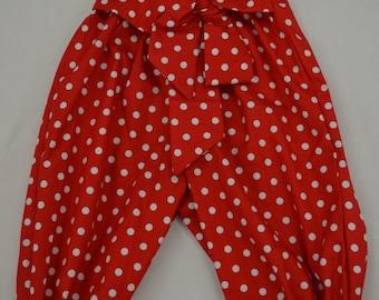 Girls Polka Dot Harem Pants