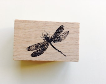 New- for Scrapbooking Rubber Stamping and Paper crafts Wood Mounted Rubber Stamp-- Firefly #7