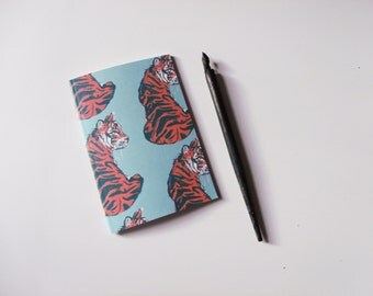 Tigers A6 Blank Notebook
