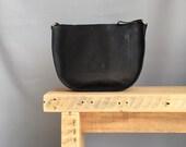 Large black leather messenger black handbag gift for her black cross body bag large saddle bag black shoulder bag black shoulder bag