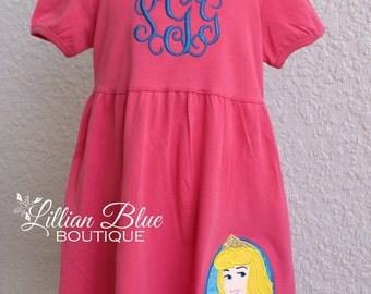 Aurora Princess Sparkle Applique Dress