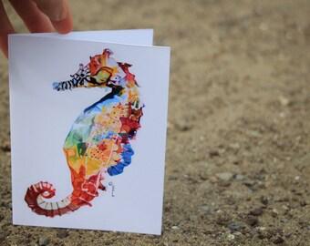 Seahorse greeting card 2