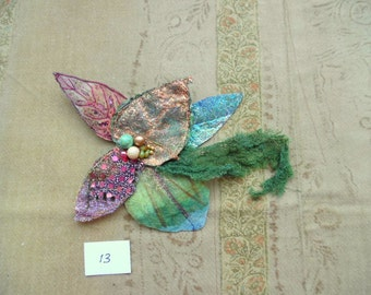 leaf brooche