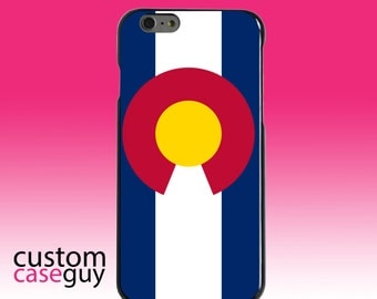 Hard Snap-On Case for Apple 5 5S SE 6 6S 7 Plus - CUSTOM Monogram - Any Colors - Colorado State Flag