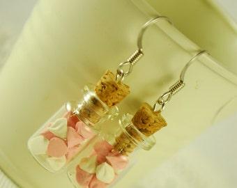 meringue jar earrings - food jewelry