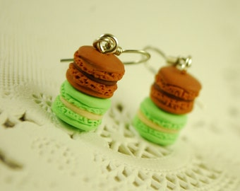 macaroon earrings - food jewelry