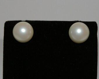 Vintage Half-Pearl Studs