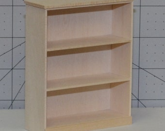 Miniature Bookcase, Miniature Furniture, 1/12 scale furniture, 1/12 scale bookcase