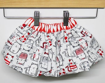 Cool Cats Resizable Bubble Skirt - 3 months THROUGH 4 years - One Size - Made to Order