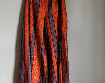 Bohemian Wide Leg Palazzo Pants Pantaloons Gypsy Pants Bell Bottoms