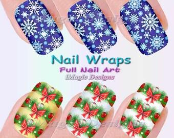 Snowflake nail decal | Etsy