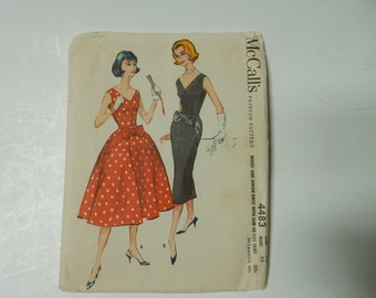 McCall's 4483 Pattern 1958 Size 12 Bust 32
