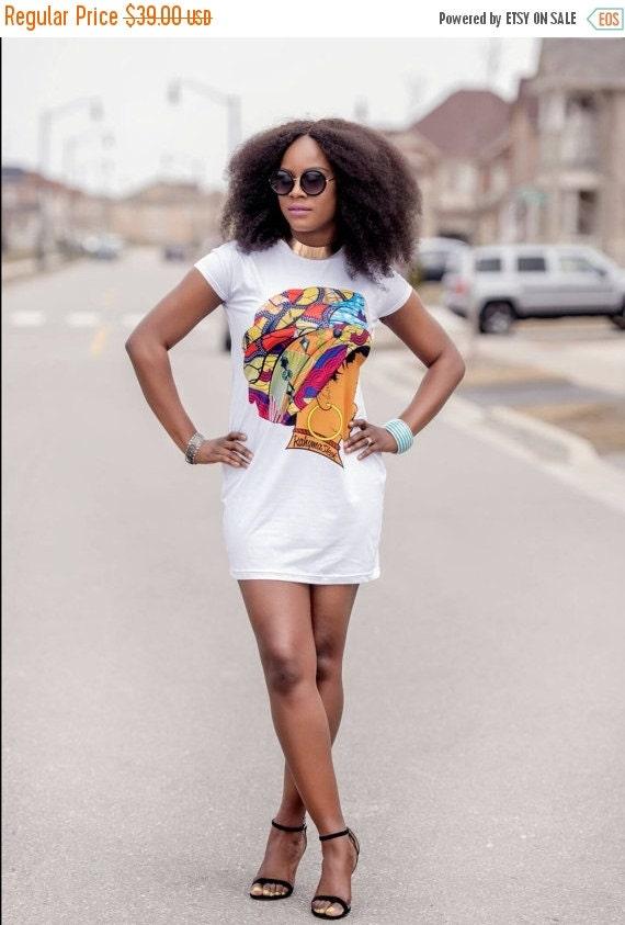 SALE Queen Neria headwrap T-Shirt dress.