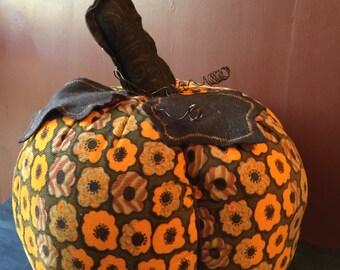 Extra large fabric pumpkin
