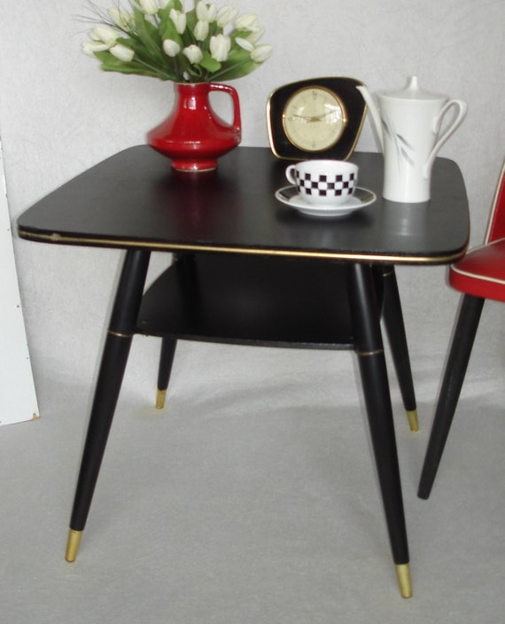 50s 60s square black coffee table end table by for 60s coffee table