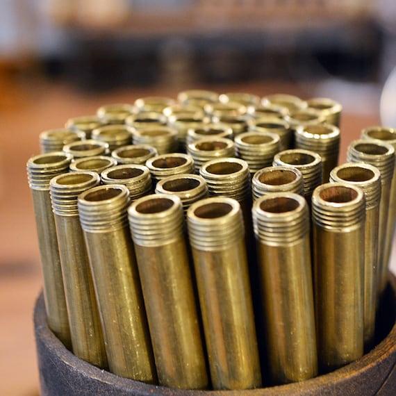 Brass tube o d threaded ips solid
