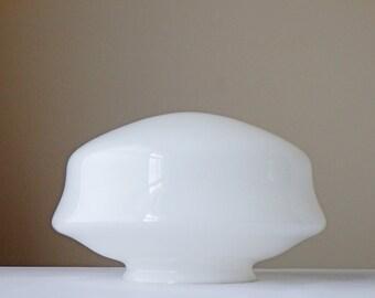 "Vintage Lamp Shade Glass Shade Schoolhouse 12"" White Shade Industrial Lighting Pendant Light Glass Shade Ceiling Light Glass Shade"