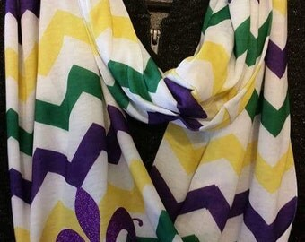 Mardi Gras Scarf - Louisiana - Mardi Gras Infinity Scarf - ADULTS or KIDS Sizes Available