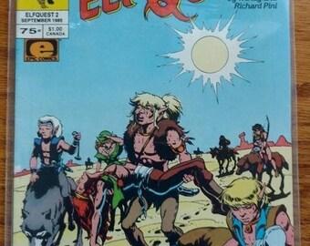 vintage,ELF QUEST,MARVEL,sept 1985,elfquest 2 , used but nice