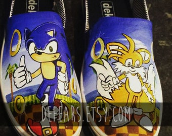 Sonic the Hedgehog - Hand Painted Pumps
