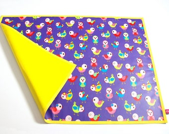 Time pad, desk pad, oilcloth placemat, oilcloth