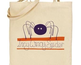 Incy Wincy Spider Nursery Rhyme Tote Bag
