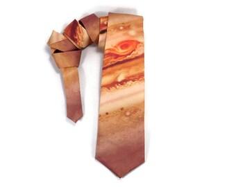 Jupiter tie, Planet tie, Space tie, Astronomy tie, Gas Giant, Planet Jupiter, Space necktie, Astronaut tie, accessory, gift