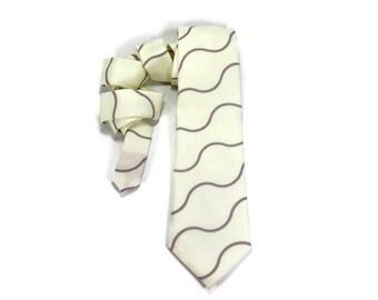 Baseball Necktie, Baseball tie, Sports tie, Game tie, Mens tie, Baseball accessory, sports game, sports gift for him, red threads, baseball