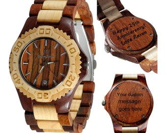 Wooden watch with Free Custom Engraving - Somiedo