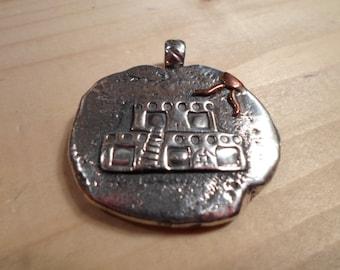 PENDANT, Pueblo Sterling Silver Pendant, handcrafted by TonyL
