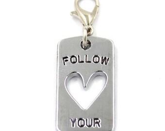 Follow Your Heart Charm, Keychain