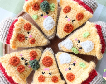Amigurumi Food! Combo Pizza Night + Beer Crochet Pattern Kawaii!