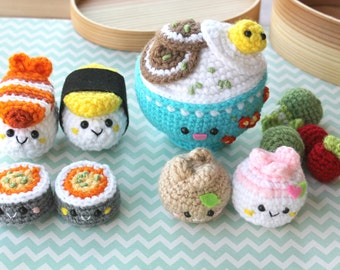 Amigurumi Food Bento Family Crochet Pattern/ Sushi Set