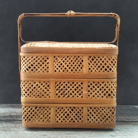 Wicker Picnic Basket Chinese Wedding Basket By Thecherryattic