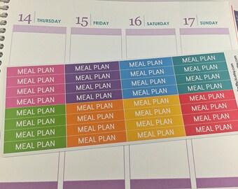 Meal Planning Header Stickers Planner Stickers, Rainbow Sticker, Meals, Header, Erin Condren, Plum Paper, MAMBI, planner accessory