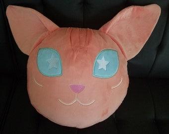 hairless 'sphynx' cat throw pillow