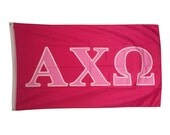 alpha chi omega dark pinklight pink letter sorority flag 3
