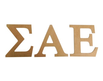sigma alpha epsilon sae 75 unfinished wood letter set