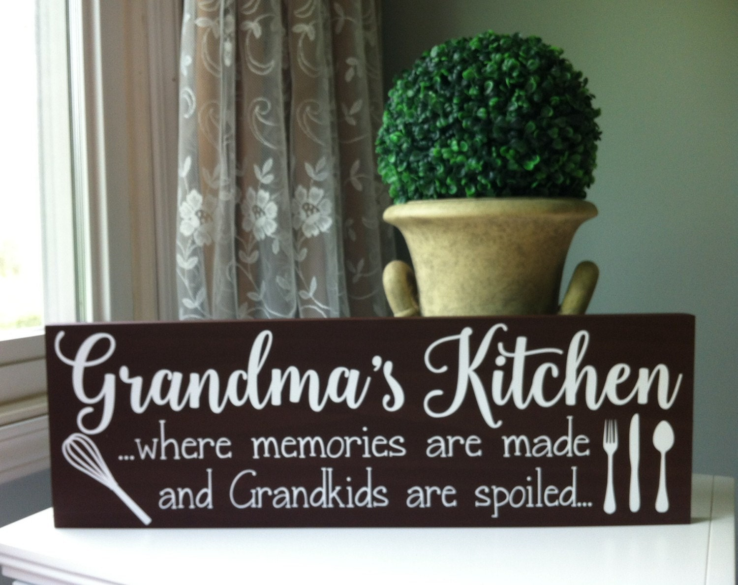 Grandma Grandmother Gift Personalized Kitchen Sign Wooden