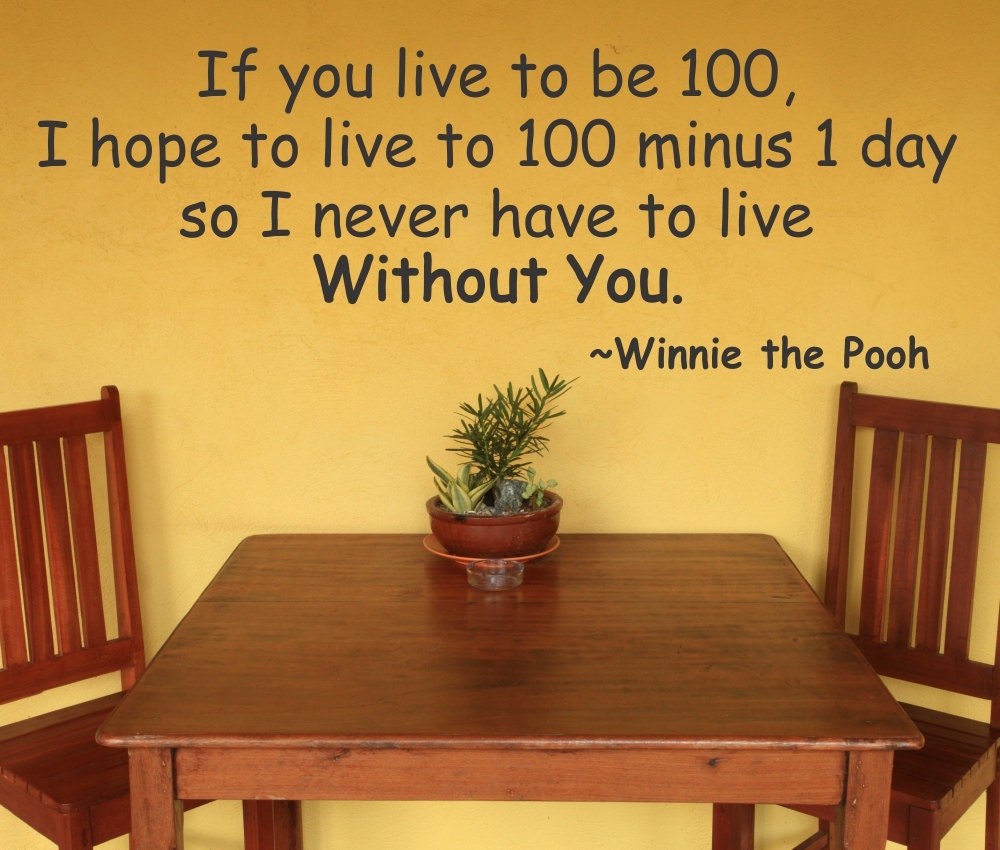 If You Live To 100 Winnie The Pooh Quote Daily Inspiration Quotes