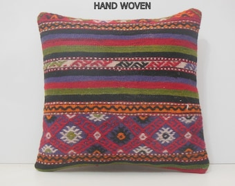 20x20 kilim pillow 20x20 red decorative pillow green throw pillow oriental pillow cover large kelim rug 50x50 kilim pillow red pillows 14963